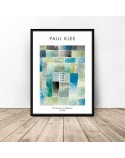 Plakat reprodukcja First House in a Settlement Paul Klee 2