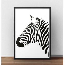 """Plakat z zebrą """"Lewy profil zebry"""""""