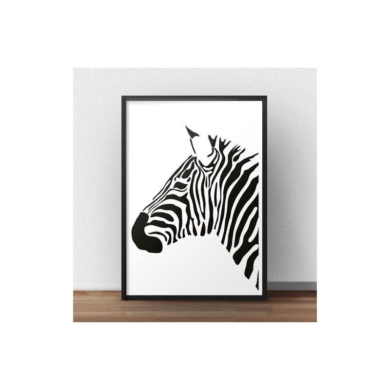 Zebra poster Left zebra profile