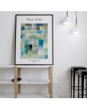 Plakat reprodukcja First House in a Settlement Paul Klee 3