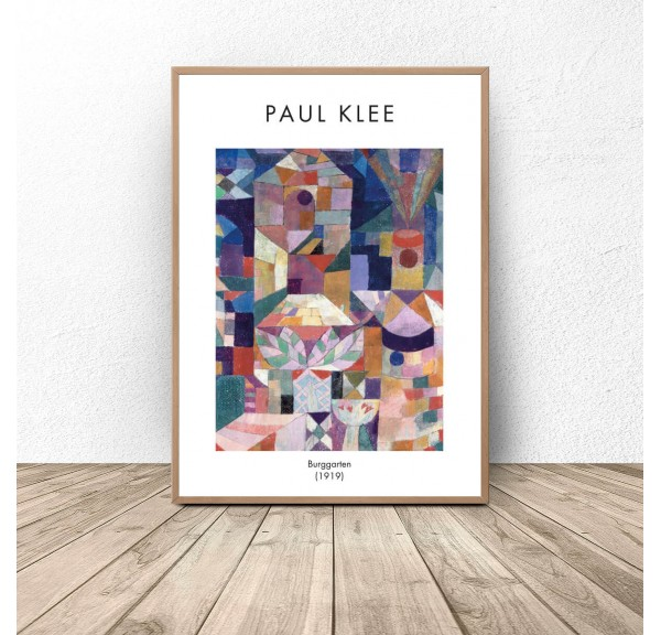 Plakat reprodukcja Burggarten Paul Klee