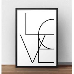"""Typograficzny plakat z napisem """"LOVE"""""""