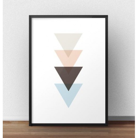 Skandynawski plakat linia trójkątów