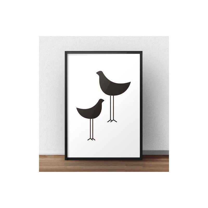 Poster of two black birds