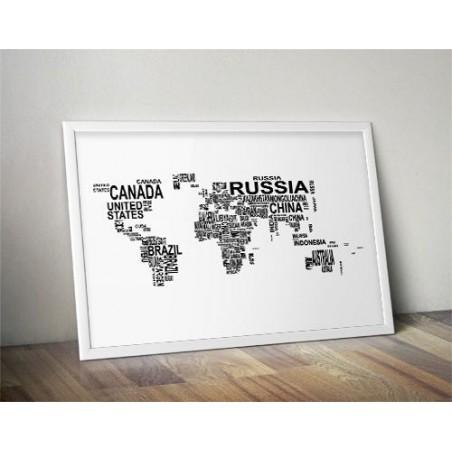 """Plakat """"Mapa świata nazwy państw"""""""