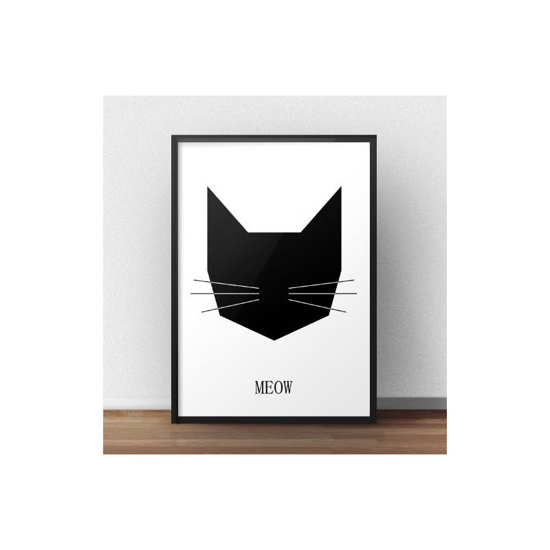 Poster with black cat
