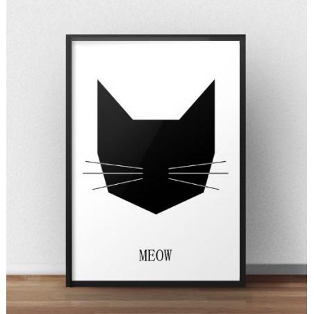 Plakat z czarnym kotem