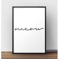 """Minimalistyczny plakat z napisem """"Meow"""""""