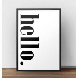 """Typograficzny plakat z napisem """"Hello"""" w pionie"""