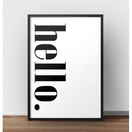 "Plakat z pionowym napisem ""Hello"""