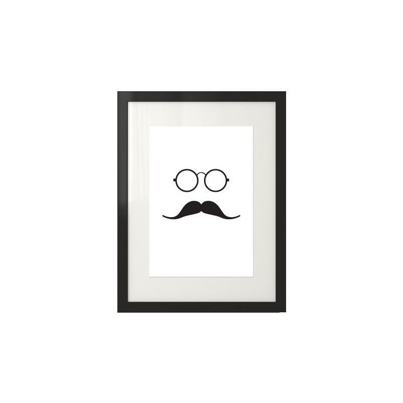Hipster poster with mustache Hipster No2