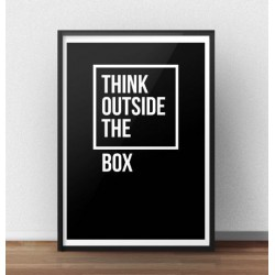 "Motywacyjny plakat z napisem ""Think outside the box"""
