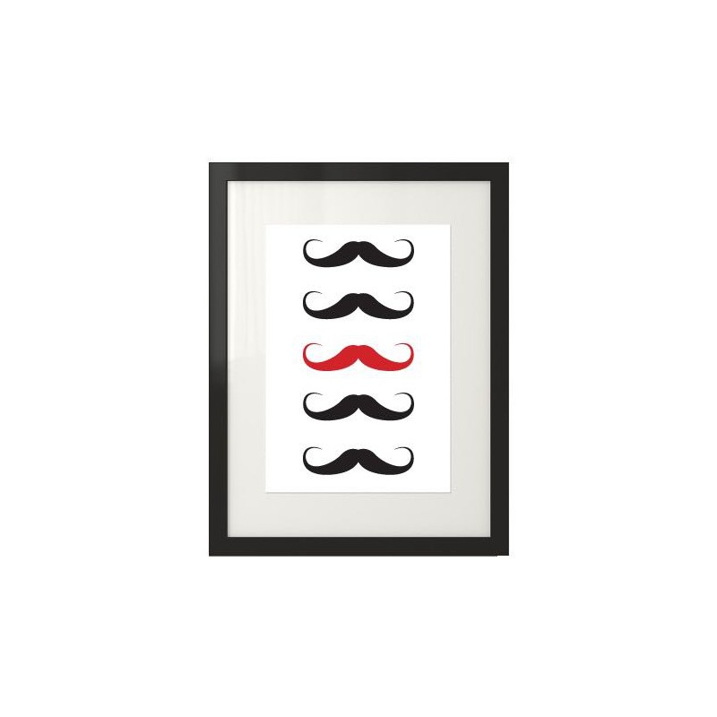 Poster with mustache Red mustache
