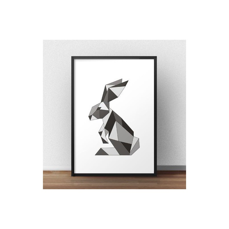 Colorful poster with rabbit