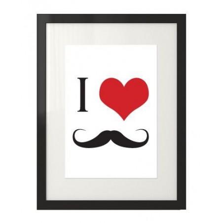"""Plakat na ścianę """"I love mustache"""""""
