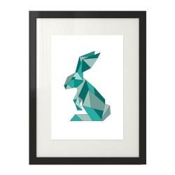 Geometryczny królik w kolorze turkusowym