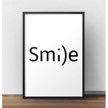 """Typograficzny plakat z napisem """"Smile"""""""