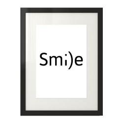 """Motywacyjny plakat ze słowem """"Smile"""""""