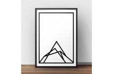 "Skandynawski plakat ""Mountain shape"""