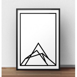 "Skandynawski plakat ""Mountain shape"""