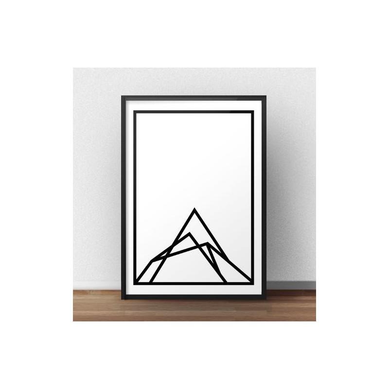 Scandinavian poster Mountain shape