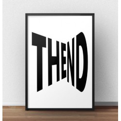 """Typograficzny plakat z napisem """"The end"""""""