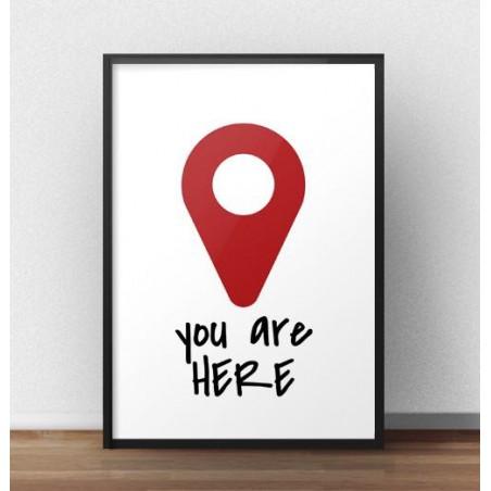 "Grafika na ścianę ""You are here"""