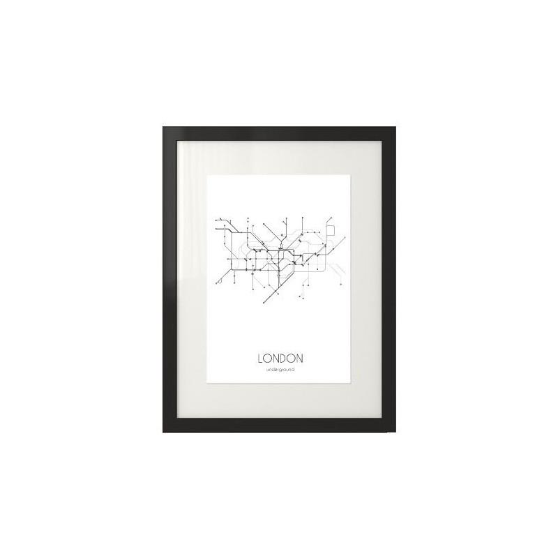 Poster with london underground plan