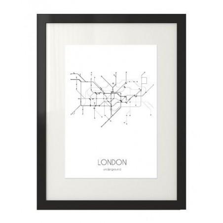 Plakat z planem metra w Londynie