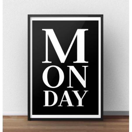 """Czarny plakat z napisem """"Monday"""""""