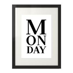 "Plakat typograficzny na ścianę z napisem ""Monday"""