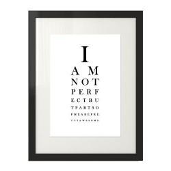 Typograficzny plakat wzorowany na tablicy do badania wzroku
