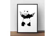 "Plakat ""Panda With Guns"" Banksy"