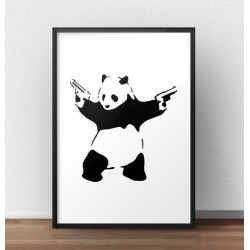 "Plakat ""Panda With Guns"" Banksy"