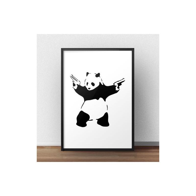 Banksy's Panda With Guns poster