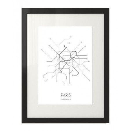 Plakat z planem metra w Paryżu
