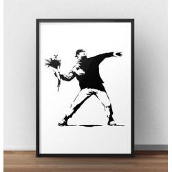 """Plakat """"Flower Thrower"""" Banksy"""