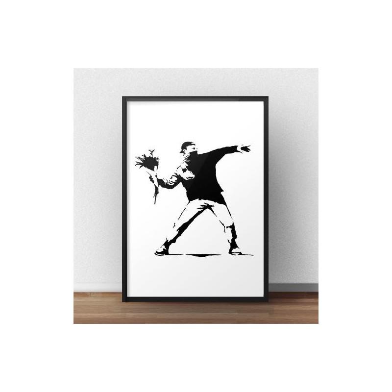Banksy's Flower Thrower poster