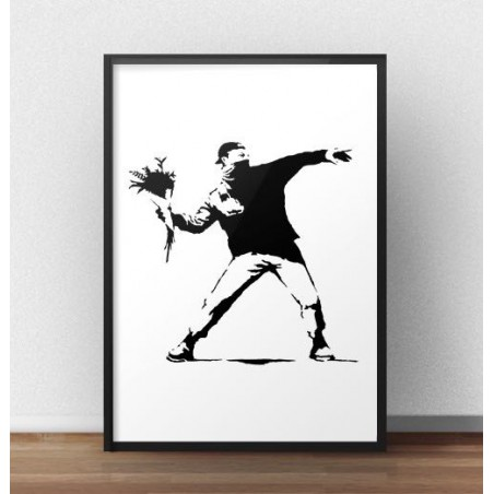 "Plakat ""Flower Thrower"" Banksy"