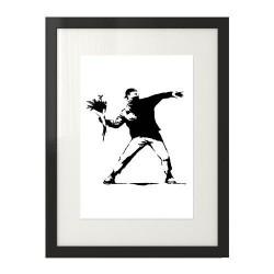 """Plakat inspirowany twórczością Banksy'ego """"Flower Thrower"""""""