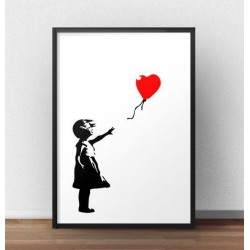 "Plakat ""Girl with red balloon"" Banksy"