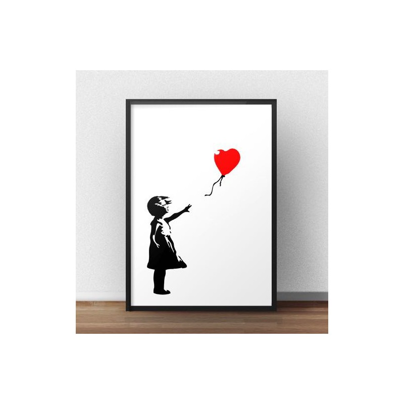 Banksy's Girl with red balloon poster