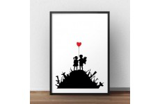 "Plakat na ścianę ""War children"" Banksy"