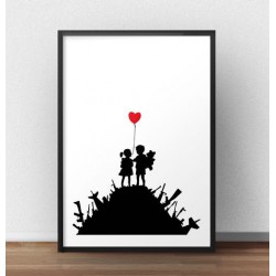 "Plakat ""War children"" Banksy"
