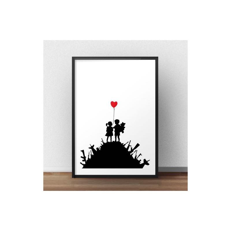 Plakat War children Banksy