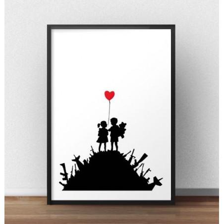 """Plakat """"War children"""" Banksy"""
