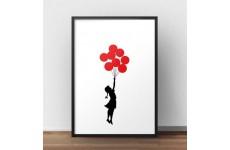 """Plakat na ścianę """"Balloons"""" Banksy"""