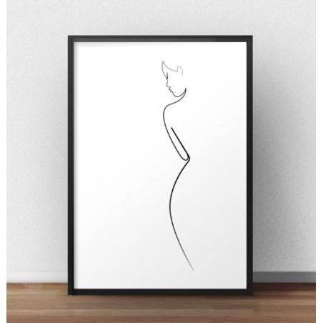 """Minimalistyczny plakat """"Kształt kobiety"""""""