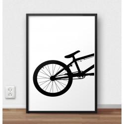 Plakat tyłu roweru BMX wchodzący w skład zestawu dwóch plakatów