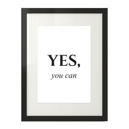 """Plakat motywacyjny z napisem """"Yes, you can"""""""